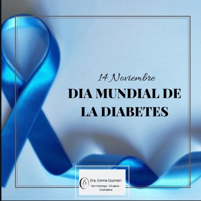 El Día Mundial de la Diabetes es un día de campaña de concienciación acerca de la diabetes y tiene lugar cada año el 14 de noviembre, una enfermedad que afecta a más de 35 millones de personas en el mundo tiene una relación estrecha con las enfermedades en la piel. #dermatologia