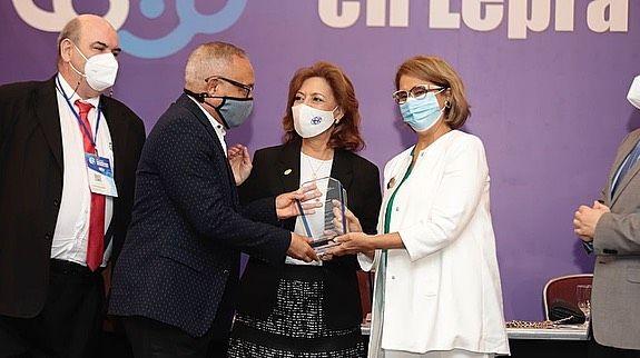 Nuestra Doctora Emma Guzman, Directora del patronato de la lucha contra la Lepra en el Simposio de actualización de la Lucha contra la Lepra 2021.